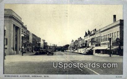 Wisconsin Ave - Neenah Postcard