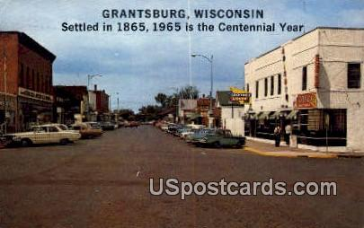 Grantsburg, WI     ;     Grantsburg, Wisconsin Postcard