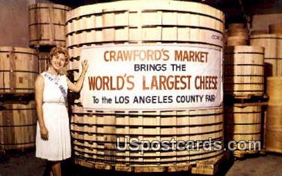 Crawford's Market, Worlds Largest Cheese - Denmark, Wisconsin WI Postcard