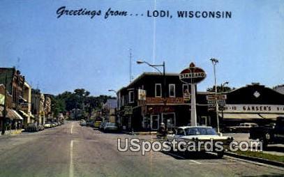 Home of Suzy the uck, Lake Wisconsin - Lodi Postcard