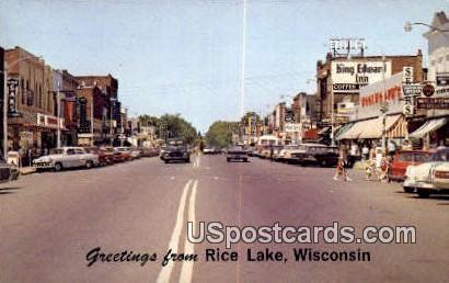 Rice Lake, Wisconsin     ;     Rice Lake, WI Postcard