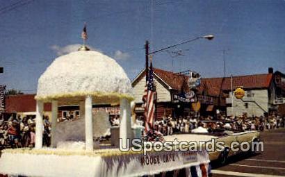 Musky Festival Parade - Hayward, Wisconsin WI Postcard