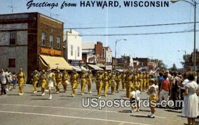 Hayward High School Band - Wisconsin WI Postcard