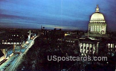 Capitol Square - Madison, Wisconsin WI Postcard
