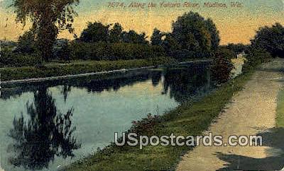 Yahara River, City Park - Madison, Wisconsin WI Postcard