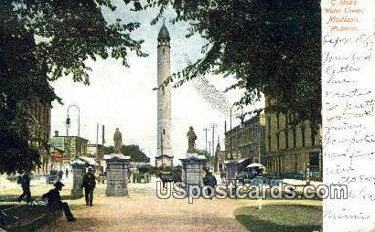 Water Tower - Madison, Wisconsin WI Postcard