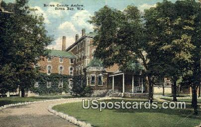 Brown County Asylum - Green Bay, Wisconsin WI Postcard