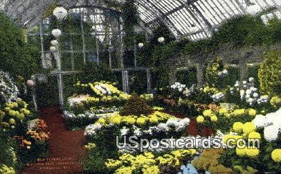 Mitchell Park Conservatory - MIlwaukee, Wisconsin WI Postcard