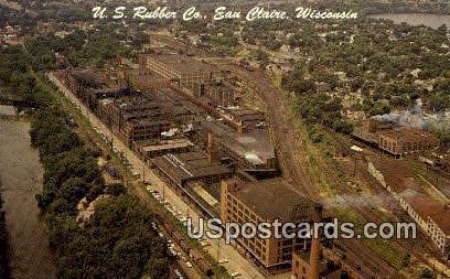 US Rubber Co - Eau Claire, Wisconsin WI Postcard