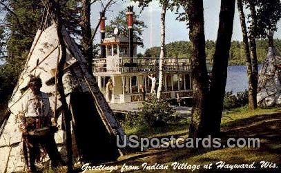 Indian Village - Hayward, Wisconsin WI Postcard