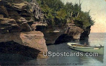 Lighthouse - Apostle Islands, Wisconsin WI Postcard
