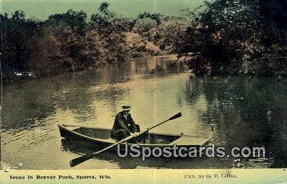 Beaver Park - Sparta, Wisconsin WI Postcard