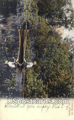 Canoeing - Lake Geneva, Wisconsin WI Postcard