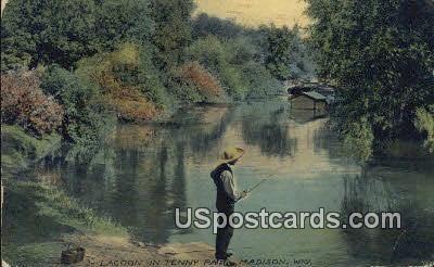 Lagoon, Tenny Park - Madison, Wisconsin WI Postcard