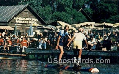 Professional Log Rollers - Hayward, Wisconsin WI Postcard