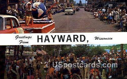 Hayward, WI     ;     Hayward, Wisconsin Postcard
