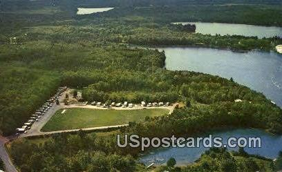 Hiawatha Mobile Home Court - Woodruff, Wisconsin WI Postcard