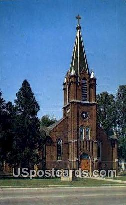 Christ Lutheran Church - Stoughton, Wisconsin WI Postcard