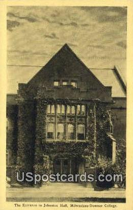 Entrance to Johnston Hall - MIlwaukee, Wisconsin WI Postcard