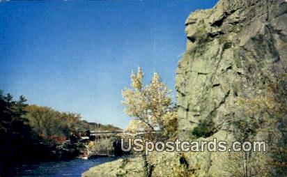 Old Man of The Dalles - St. Croix, Wisconsin WI Postcard