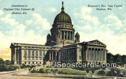 Wisconsn's New State Capitol - Madison, Wisconsin WI Postcard