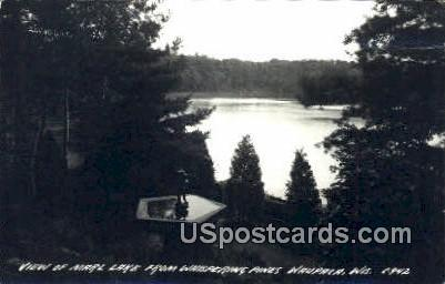 Marl Lake, Whispering Pines, Real Photo - Waupaca, Wisconsin WI Postcard