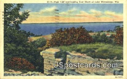 High Cliff, East Shore - Lake Winnebago, Wisconsin WI Postcard