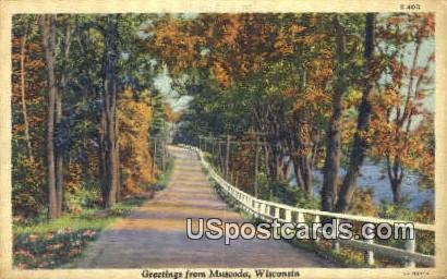 Muscoda, Wisconsin     ;     Muscoda, WI Postcard