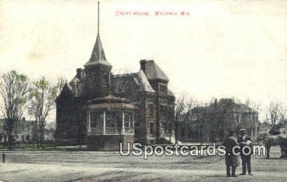 Court House - Waupaca, Wisconsin WI Postcard