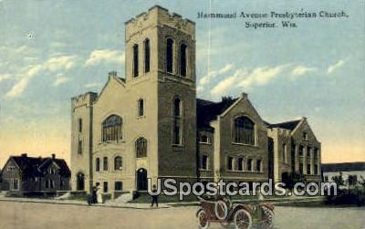 Hammond Avenue Presbyterian Church - Superior, Wisconsin WI Postcard