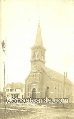 St Mary's Catholic Church Real Photo - Richland Center, Wisconsin WI Postcard