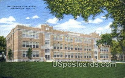 Whitewater High School - Wisconsin WI Postcard