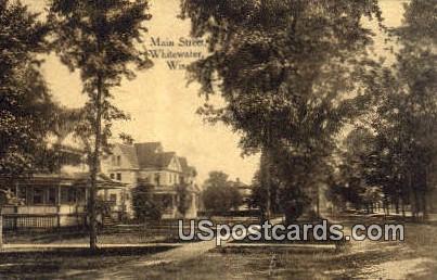 Main Street - Whitewater, Wisconsin WI Postcard