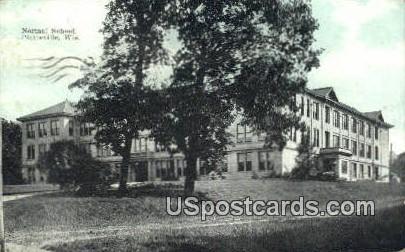 Normal School - Platteville, Wisconsin WI Postcard