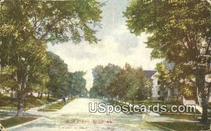 Bluff Street - Beloit, Wisconsin WI Postcard