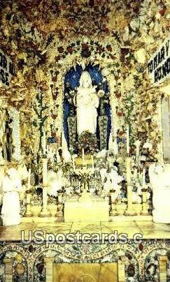 Grotto of the Blessed Virgin - Dickeyville, Wisconsin WI Postcard