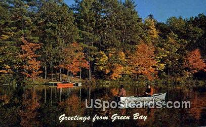 Green Bay, WI     ;     Green Bay, Wisconsin Postcard