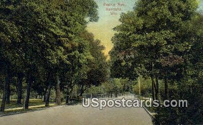Prairie Ave - Kenosha, Wisconsin WI Postcard