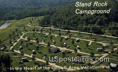 Stand Rock Campground - Wisconsin Dells Postcards, Wisconsin WI Postcard