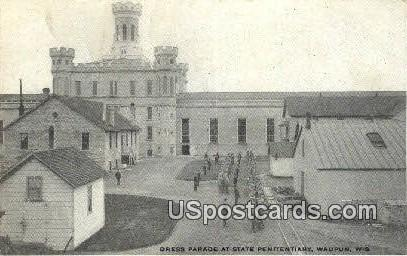 Dress Parade, State Penitentiary - Waupun, Wisconsin WI Postcard