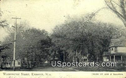 Washington Street - Edgerton, Wisconsin WI Postcard