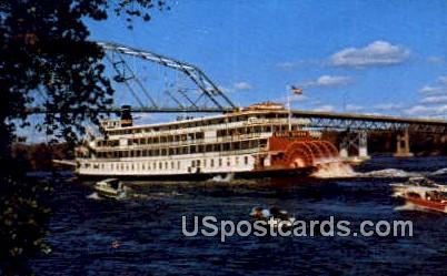 SS Delta Queen - Mississippi River, Wisconsin WI Postcard