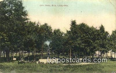City Park - Rice Lake, Wisconsin WI Postcard