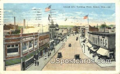 Grand Ave - Beloit, Wisconsin WI Postcard