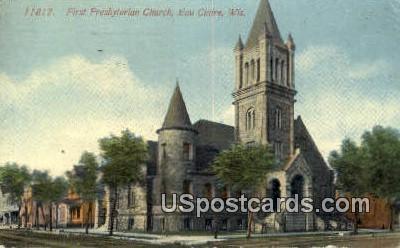 First Presbyterian Church - Eau Claire, Wisconsin WI Postcard