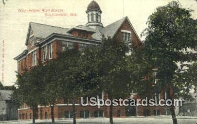 Oconomowoc High School - Wisconsin WI Postcard