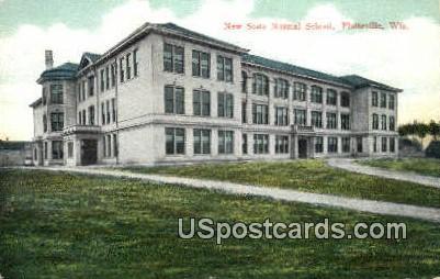 New State Normal School - Platteville, Wisconsin WI Postcard