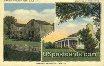 Whitman's Trading Post - Beloit, Wisconsin WI Postcard