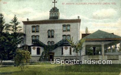 St Mary's Academy - Prairie Du Chien, Wisconsin WI Postcard