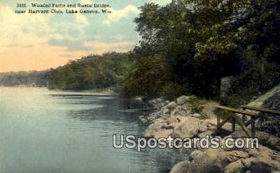 Harvard Club - Lake Geneva, Wisconsin WI Postcard